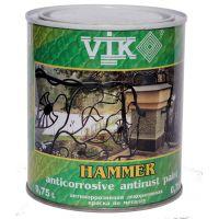 Краска по металлу VIK Hammer (темно-коричневый) 0,75 л (3318)