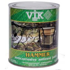 Краска по металлу VIK Hammer (бордо) 0,75 л (120)