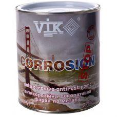 Краска по металлу VIK Corrosion (черный глянцевый) 0,75 л (505)