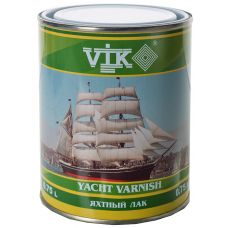 Лак яхтный полу-матовый 0,75 л  VIK