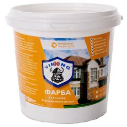Фарба акрилова водно-дисперсійна фасадна 1,4 кг VIKING