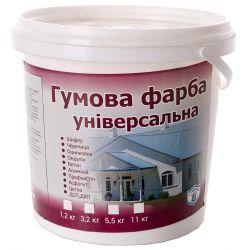 Резиновая краска универсальная (белый) 1,2 кг VIKING