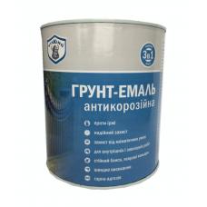Грунт - Эмаль антикорозийная 3в1 Коричневый 0,9 кг VIKKING