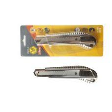 Нож металлический с отломным лезвием 18 мм, авто замок ZYP