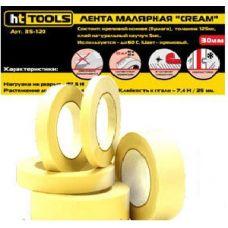 Лента малярная CREAM, 25мм х 15м Yellow HT-Tools
