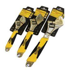 """Ключ разводной Cr-V, 12""""/300мм, эргономическая ручка HT-Tools"""