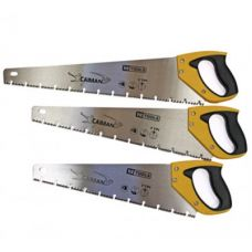 """Ножовка по дереву """"Caiman"""", 450мм, 7TPI, трехгранная заточка, каленный зуб HT-Tools"""