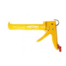 Пистолет для силикона с трещоткой с металлической ручкой POLAX