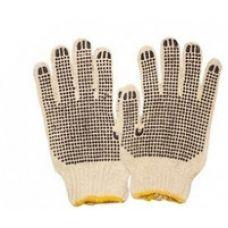 Перчатка вязанная ХБ (белая) 9  POLAX